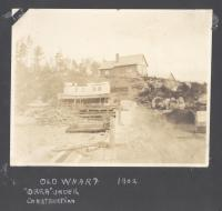 Boat under construction at Norcross Wharf, North Twin Lake, 1902