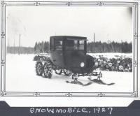 Model T snowmobile, Quakish Lake, 1927