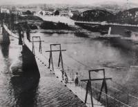 Fort Kent footbridge, ca. 1930