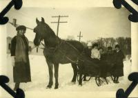 Sleigh Ride, Farmington, ca. 1922