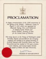 Treaty anniversary proclamation, 1992