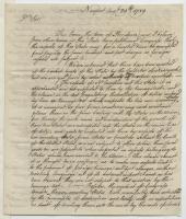 William Ellery on shipping fees, Newport, Rhode Island, 1789