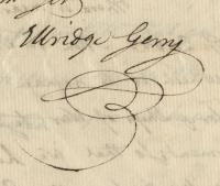 Elbridge Gerry signature, May 28, 1776