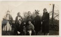 Women in costume, Lovell, ca. 1920