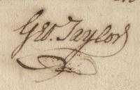 George Taylor signature, Nov. 23, 1780