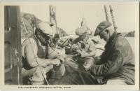 Tending seine nets in Monhegan Harbor, Monhegan, ca. 1930