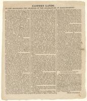 Eastern lands broadside, ca. 1820