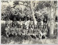 Campers at Camp Runoia in 1946