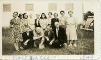 First aid class, Westport Island, 1942