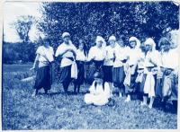 Camp Runoia girls in Vaudeville place 1913