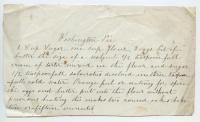 Washington pie recipe, ca. 1875