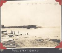 Steamer and Scow, North Twin Lake, ca. 1905