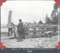 Boat under construction, Norcross, 1905