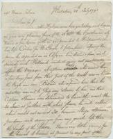 Thomas Reed to Thomas Robison regarding the Carribean economy and slave market, Sint Eustatius, July 24, 1791