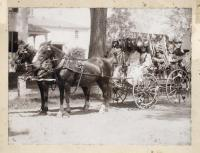Milk wagon in a parade, South Berwick, ca. 1914