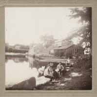 Boys at Quamphegan Landing, South Berwick, ca. 1900