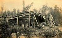Logging Camp, Upper Falls of Socatean River,  1888