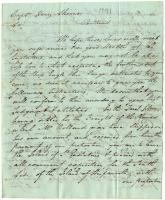 Letter from Thomas Hodges to Captain Henry Skinner, Portland, 1791