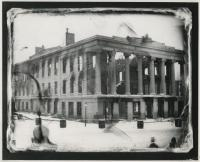Ruins of the Merchant Exchange / U.S. Custom House, Portland, 1854
