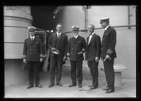 Carl Milliken, Charles B. Clark and Naval Officers at the Maine Centennial, Portland, 1920