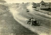 Racing cars at Bass Park track, Bangor, ca. 1915