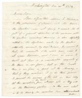 Mark Hill to William King regarding Maine's addmission to the Union, Washington, DC, 1819