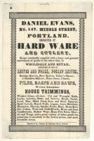 Daniel Evans advertisement, Portland, ca. 1847