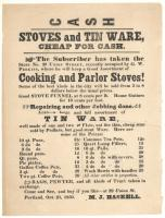 Store Advertisement, M. J. Haskell, Portland, 1850
