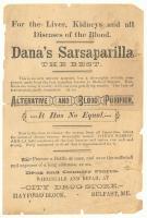 Dana's Sarsaparilla advertisement, Belfast, ca. 1890