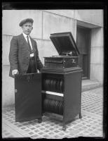 Prohibition liquor hiding techniques: Victrola before, Portland, ca. 1922