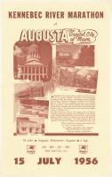 Kennebec River Marathon, Augusta, 1956