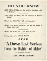 """""""A Down East Yankee From the District of Maine,"""" 1920"""