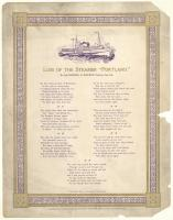 "Poem memorializing the loss of the steamer ""Portland,"" 1899"