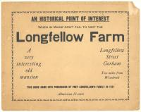 Promotional poster for the Longfellow Farm, Gorham, ca. 1930