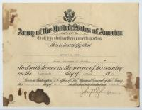 Certificate of honorable death for Herbert Cobb issued at Washington D.C., 1919