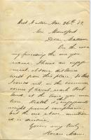 Note from Horace Mann to Elizabeth Mountfort, Feb. 3, 1851