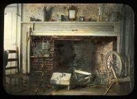 Fireplace scene, Kingfield, ca. 1910