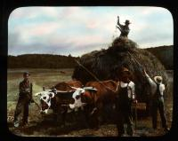 """The Last Load"" on the True farm, New Portland, ca. 1910"