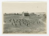 Fort Levett military training drills, Cushing Island, ca. 1917