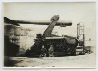 Disappearing gun at Fort Williams, Cape Elizabeth, ca. 1917
