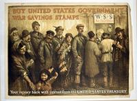 Buy United States Government War Savings Stamps World War I poster, ca. 1917