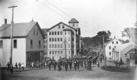 Parade on Kennebunk Bridge, Kennebunk, ca.1900