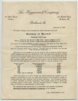 Lee, Higginson & Company Belgian investment letter, 1920