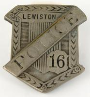 Anthony Petropulos' police badge, Lewiston, ca. 1935