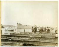 "The launching of the S.S. ""Falmouth,"" South Portland, 1918"
