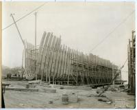 "Hull of the S.S. ""Belgrade,"" South Portland, 1918"