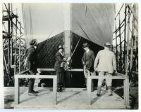 "The christening of the S.S. ""Belgrade,"" South Portland, 1918"