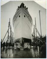 "S.S. ""Lewiston"" before launch, South Portland, 1918"