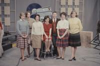 South Portland High School students on The Dave Astor Show, Portland, 1962