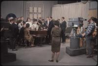 Dave Astor Show guests around the piano, Portland, 1962